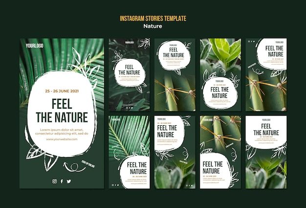 Feel the nature event instagram stories