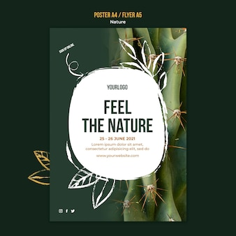 Feel the nature event template Free Psd