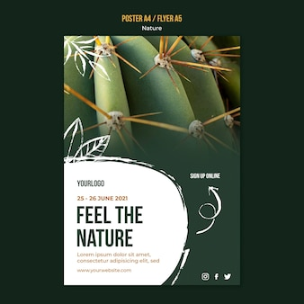 Feel the nature flyer template Free Psd