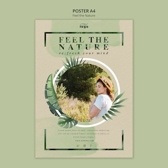 Feel the nature poster design