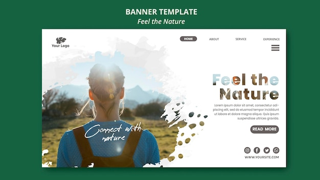 Feel the nature template banner