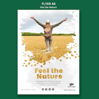 Feel the nature template flyer