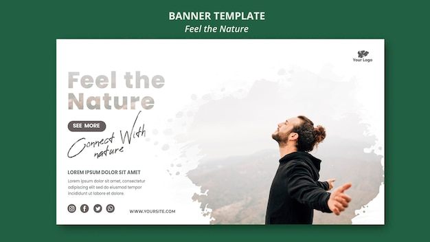 Feel the nature template horizontal banner