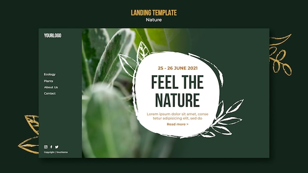 Feel the nature web template