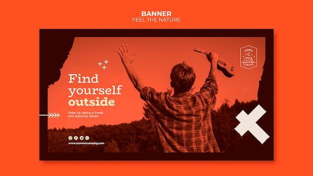 Почувствуйте природу дизайна баннера
