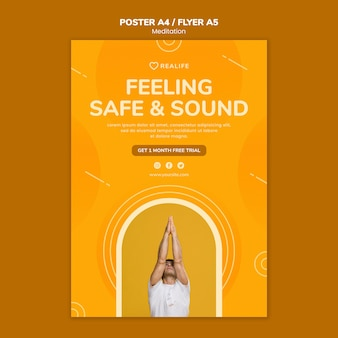 Feeling safe and sound poster template