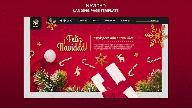 Pagina di destinazione di feliz navidad