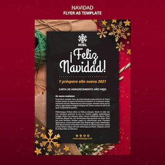 Feliz navidad poster template with photo