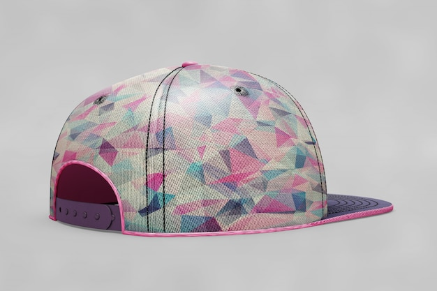 Female baseball cap mockup