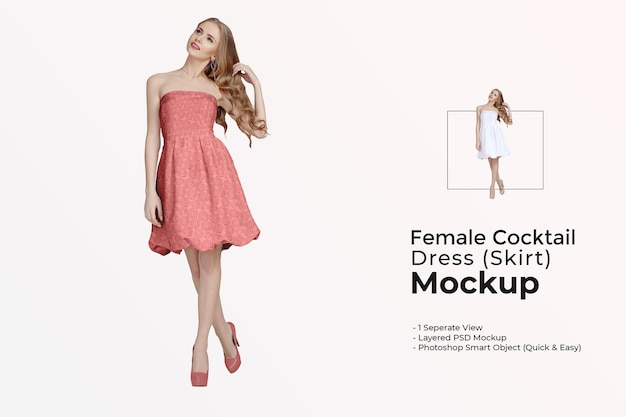 여성 칵테일 드레스 모형