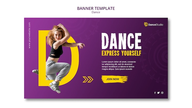 Female dancer banner template
