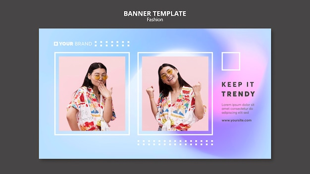 Female model fashion banner template