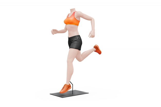 Female sport outfit mock-up isolated Free Psd