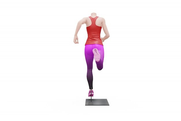 Female sport outfit mock-up isolated