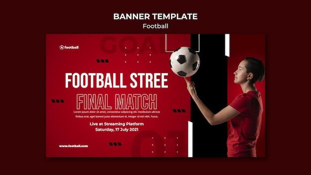 Modello di banner di calcio femminile