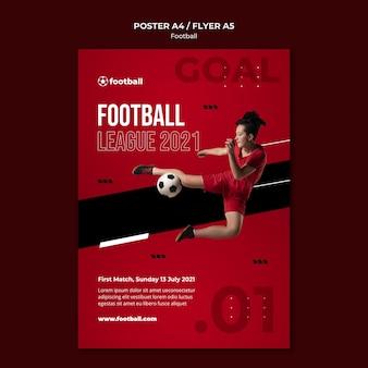 여성 축구 인쇄 템플릿