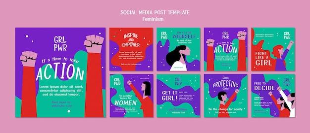 페미니즘 소셜 미디어 게시물