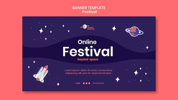Шаблон баннера фестиваля