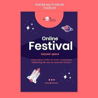 Modello di poster del festival