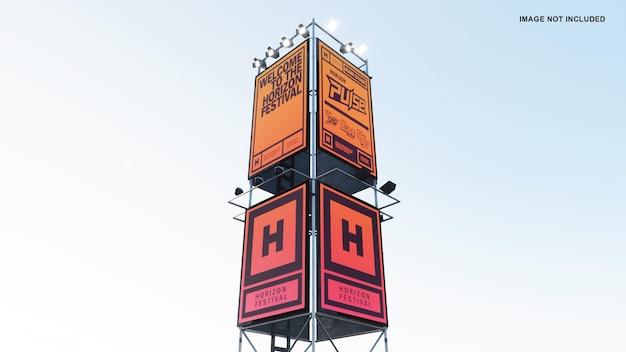Festival sign mockup