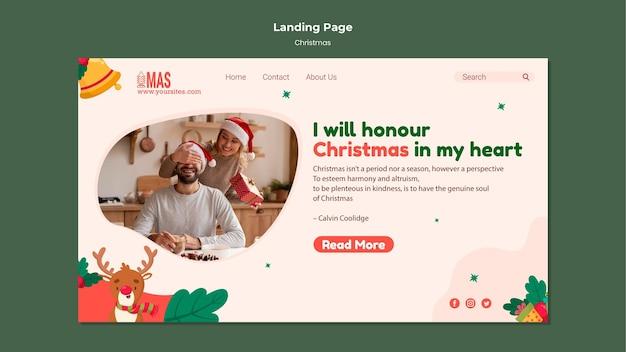 Festive christmas landing page template