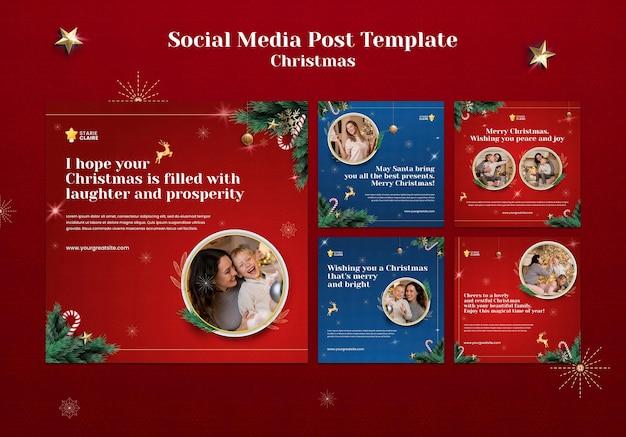 Festive christmas social media posts