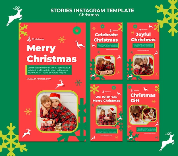 축제의 크리스마스 소셜 미디어 이야기