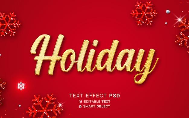 Праздничный рождественский текстовый эффект