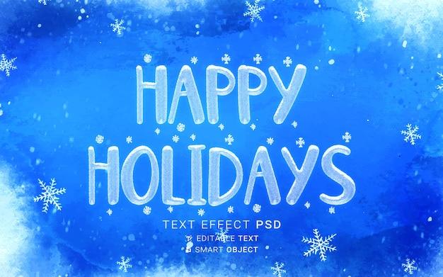 Festive christmas text effect