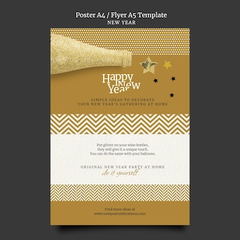 Festive new year eve print template