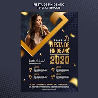 Флаер fiesta de fin de ano 2020