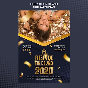 Poster fiesta de fin de ano 2020