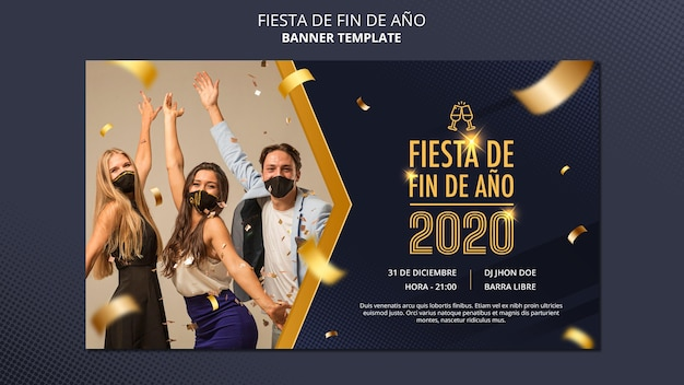 Fiesta de fin de ano banner template