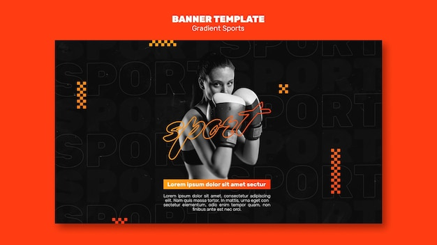 Fighting sports banner template