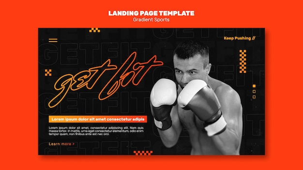 Fighting sports landing page template