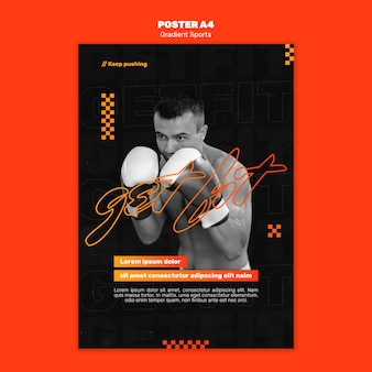 Fighting sports poster template