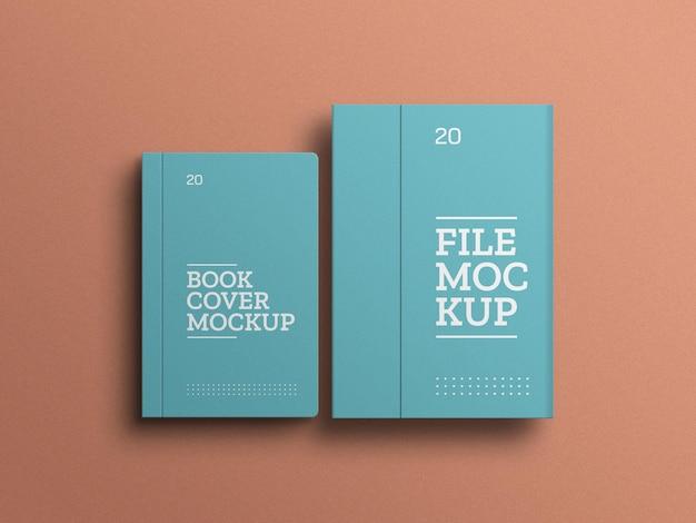 File con set di cancelleria per libri mockup