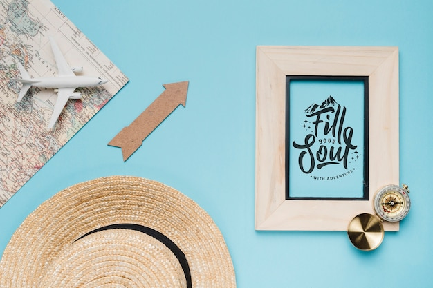 Fill your soul, motivational lettering quote for holidays traveling concept