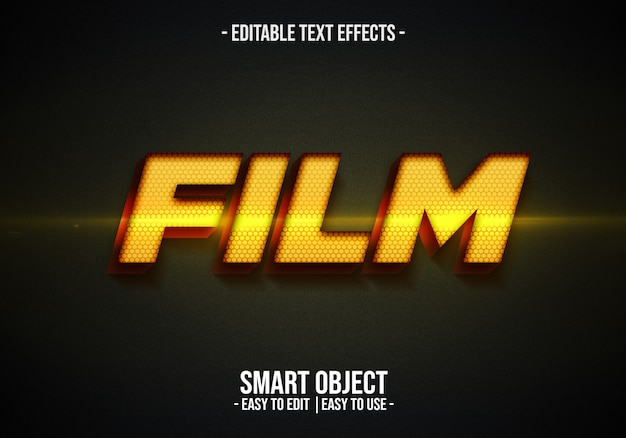 Film text style