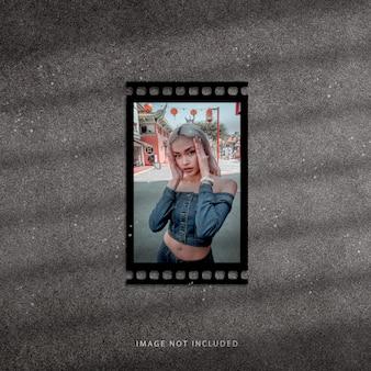 Filmstrip photo frame mockup set