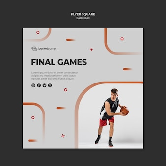 Final games square flyer template