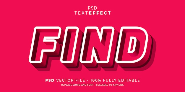 Найти текстовый эффект