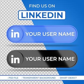 Linkedin 소셜 미디어에서 저희를 찾으십시오 3d 아이콘