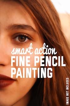 사진에 미세한 연필 페인팅 효과