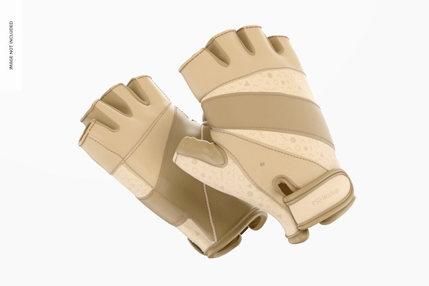 指なし手袋のモックアップ、フローティング