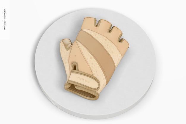 指なし手袋のモックアップ