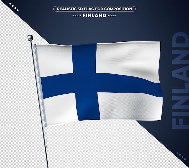 현실적인 텍스처와 핀란드 깃발