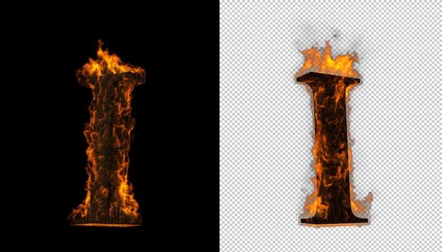 火のアルファベット。