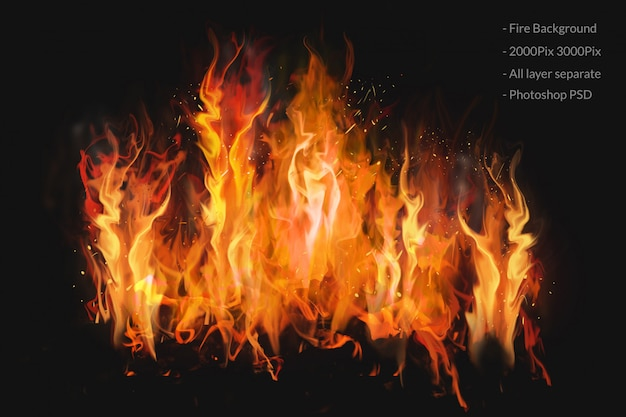 Fire background transparent