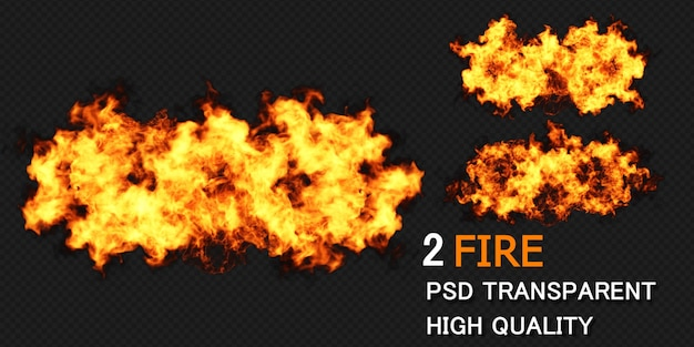 Fire design rendering isolated rendering Premium Psd